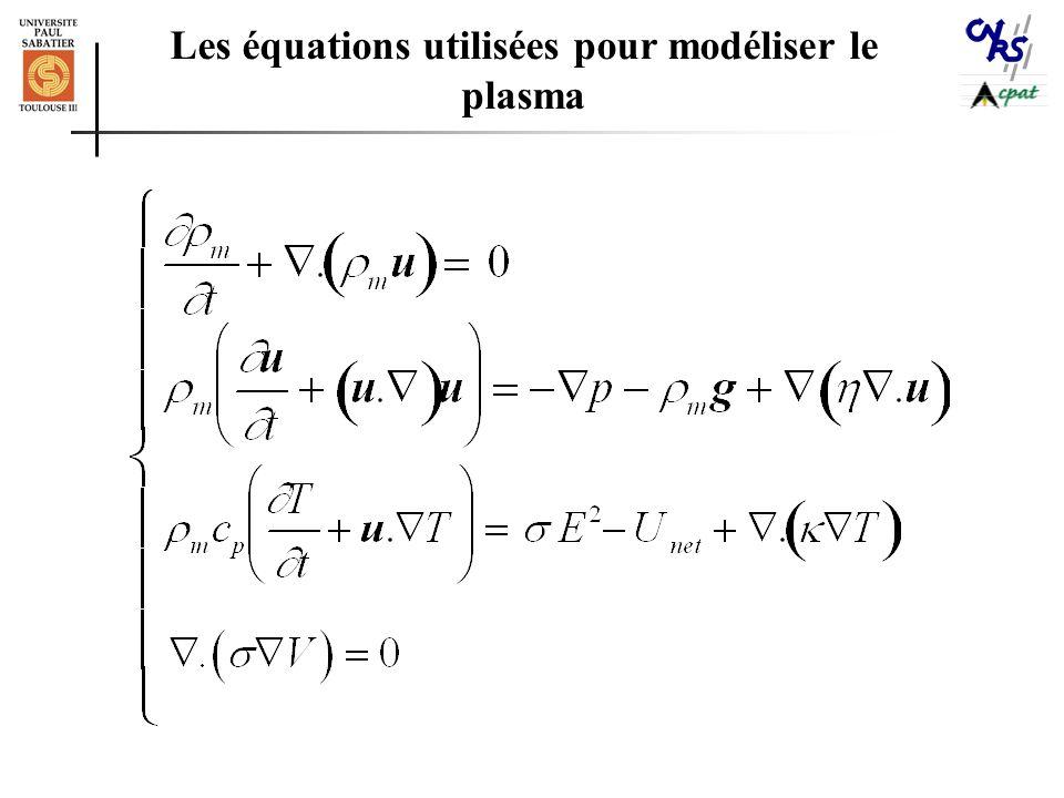 Les équations utilisées pour modéliser le plasma