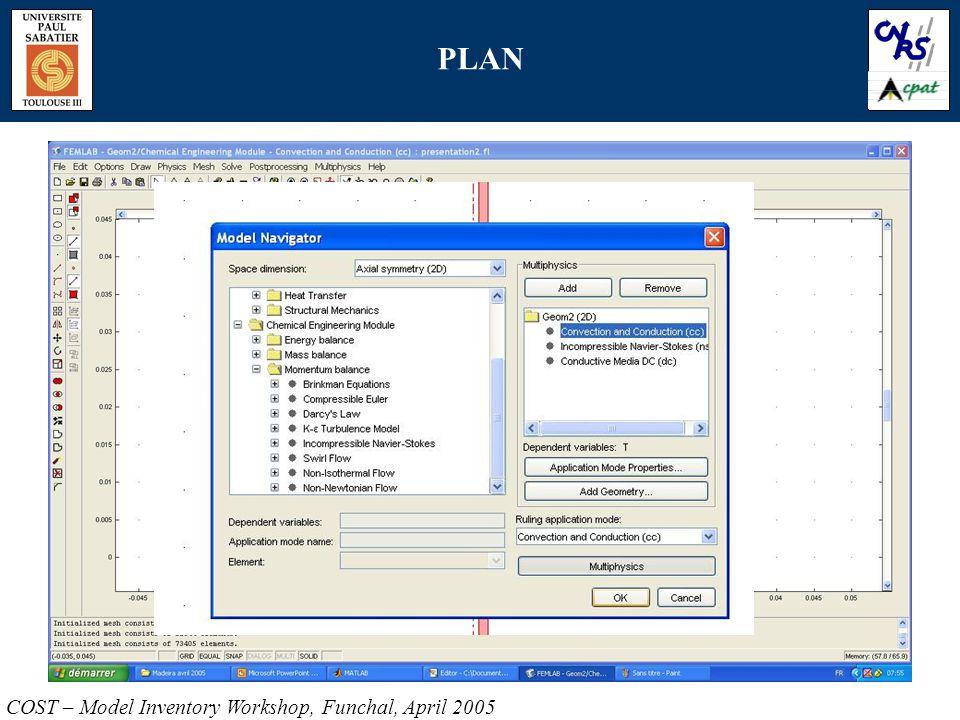 PLAN COST – Model Inventory Workshop, Funchal, April 2005
