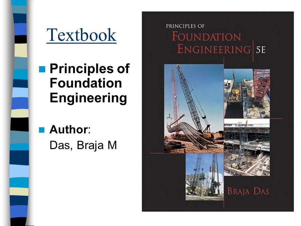 Textbook Principles of Foundation Engineering Author: Das, Braja M