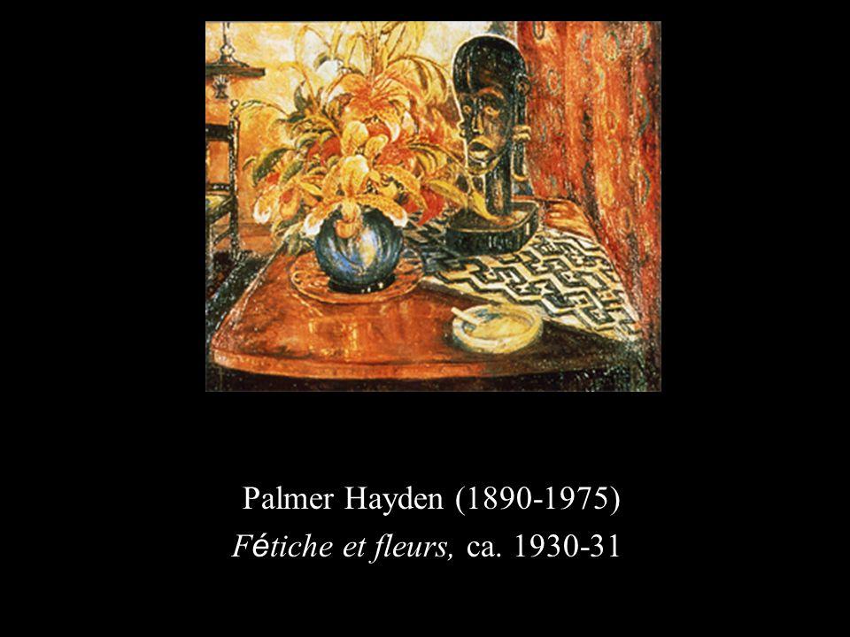 Palmer Hayden (1890-1975) F é tiche et fleurs, ca. 1930-31