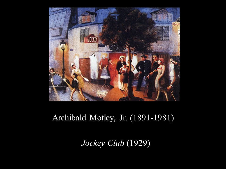 Archibald Motley, Jr. (1891-1981) Jockey Club (1929)
