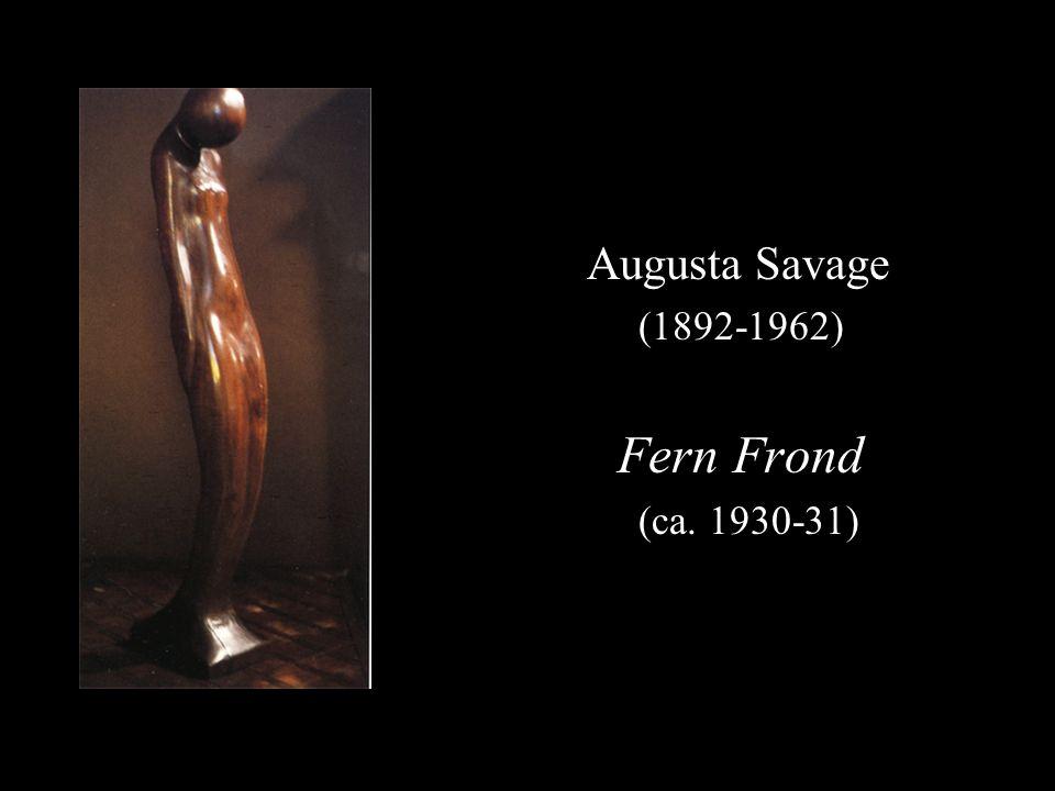 Augusta Savage (1892-1962) Fern Frond (ca. 1930-31)