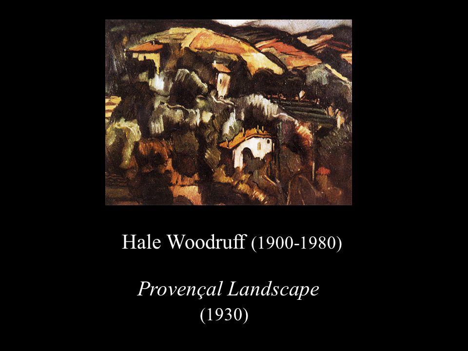 Hale Woodruff (1900-1980) Provençal Landscape (1930)