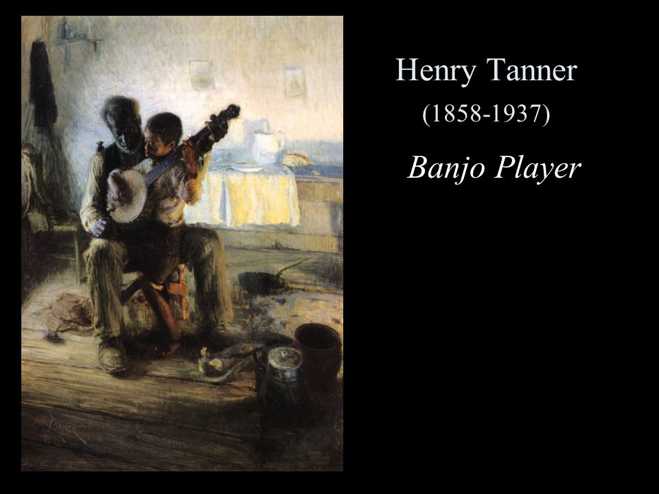 Henry Tanner (1858-1937) Banjo Player