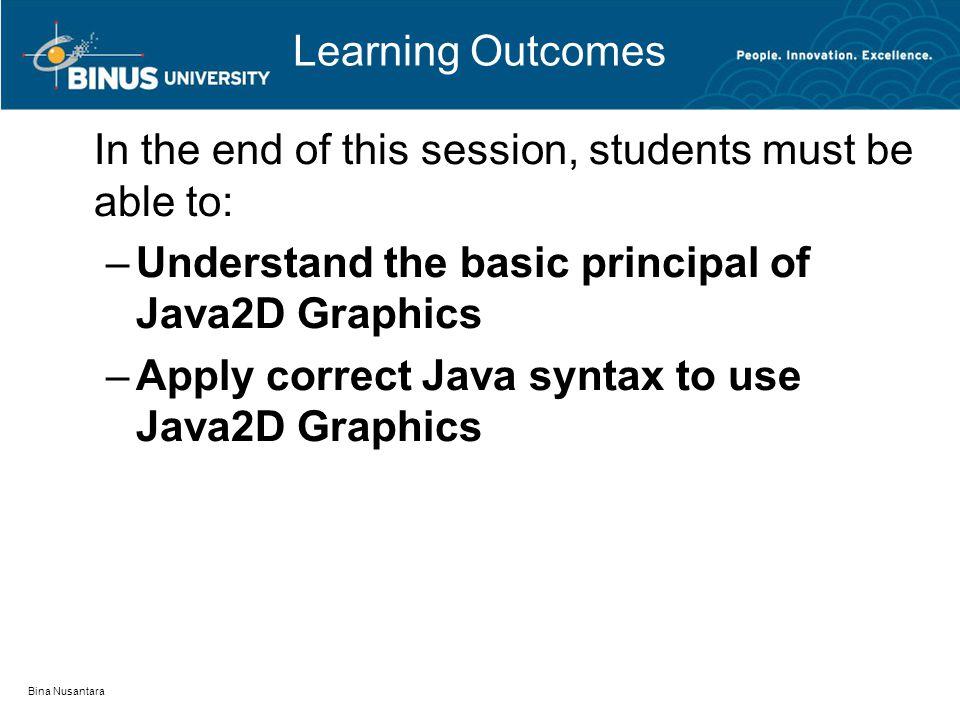 Outline Font 2D Graphics Java 2D Graphics Bina Nusantara