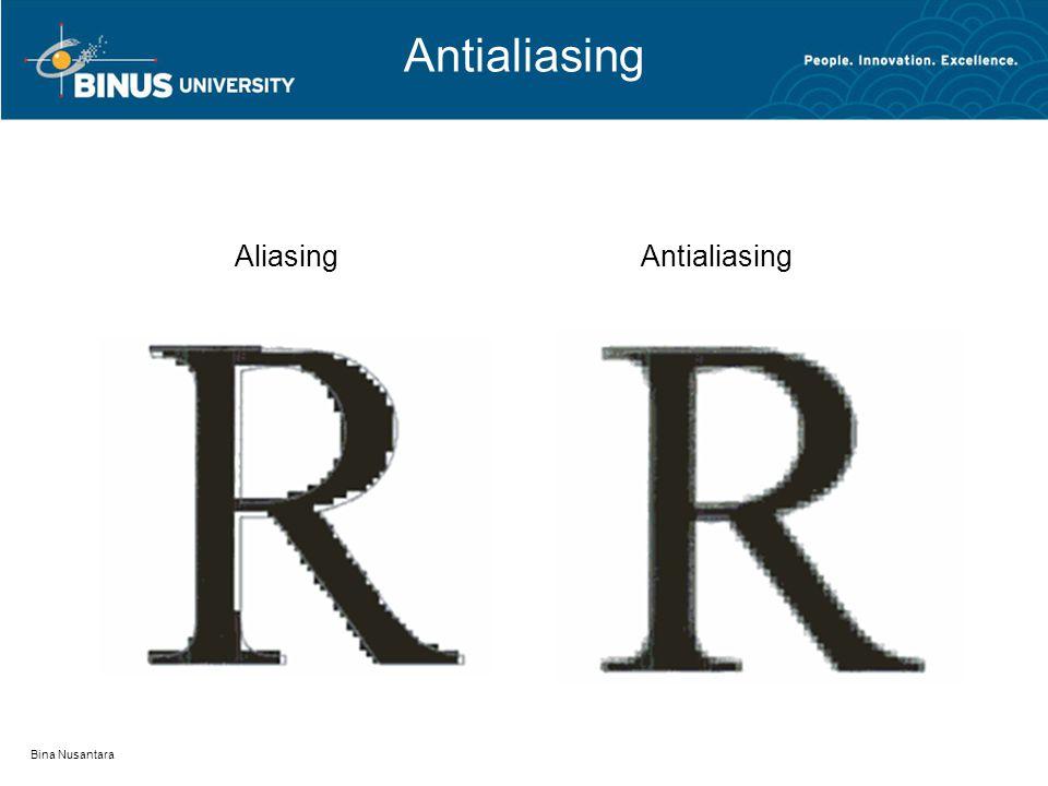 Antialiasing Bina Nusantara AliasingAntialiasing