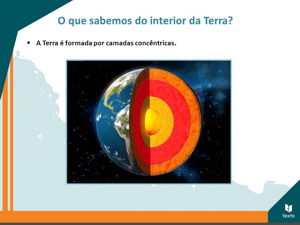  A Terra é formada por camadas concêntricas. O que sabemos do interior da Terra