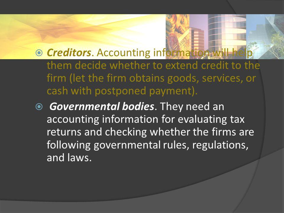  Creditors.