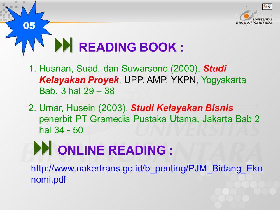   READING BOOK : 1.Husnan, Suad, dan Suwarsono.(2000).
