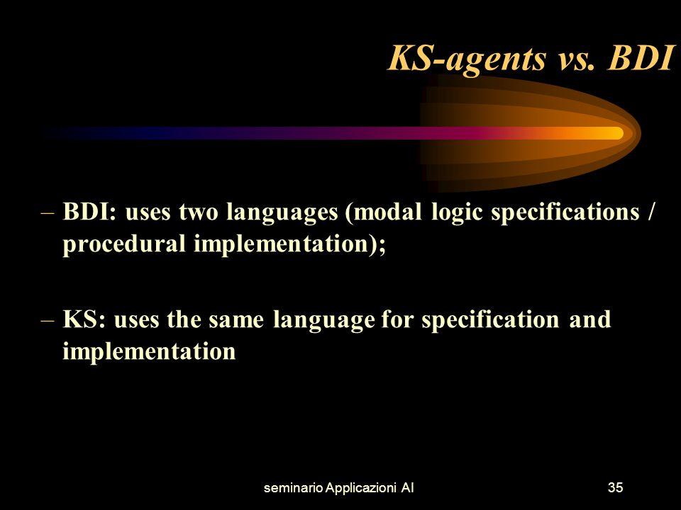 seminario Applicazioni AI35 KS-agents vs.