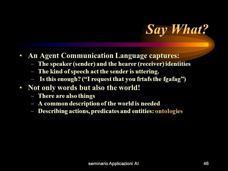 seminario Applicazioni AI46 Say What.