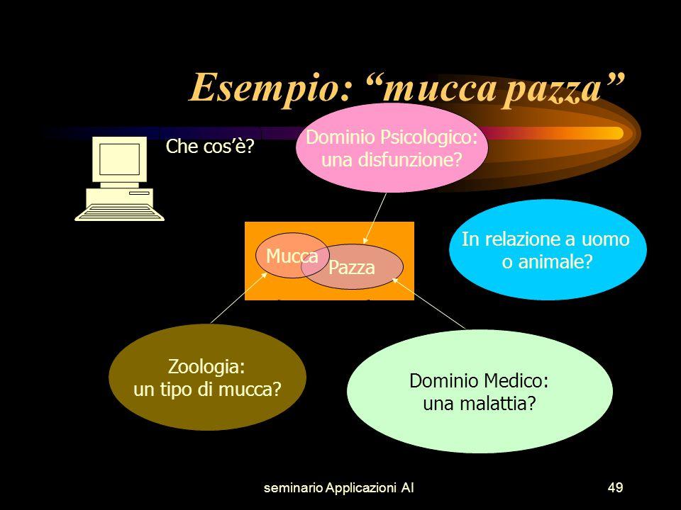 seminario Applicazioni AI49 Dominio Medico: una malattia.