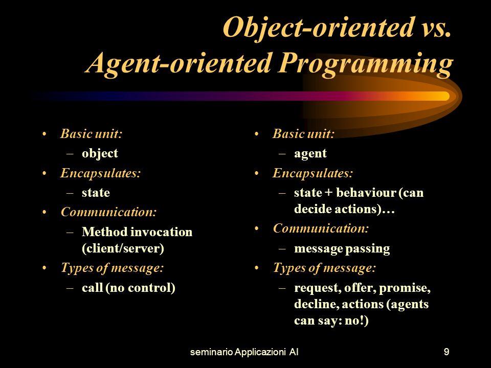 seminario Applicazioni AI9 Object-oriented vs.