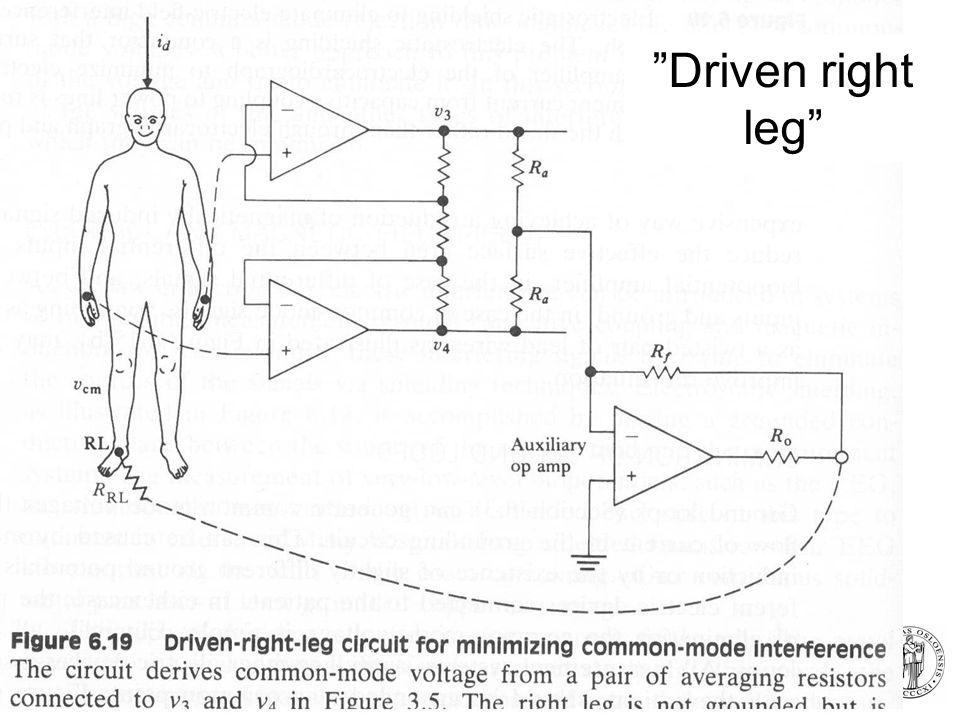 Fysisk institutt - Rikshospitalet 18 Driven right leg