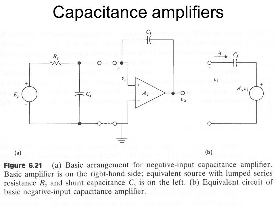 Fysisk institutt - Rikshospitalet 21 Capacitance amplifiers