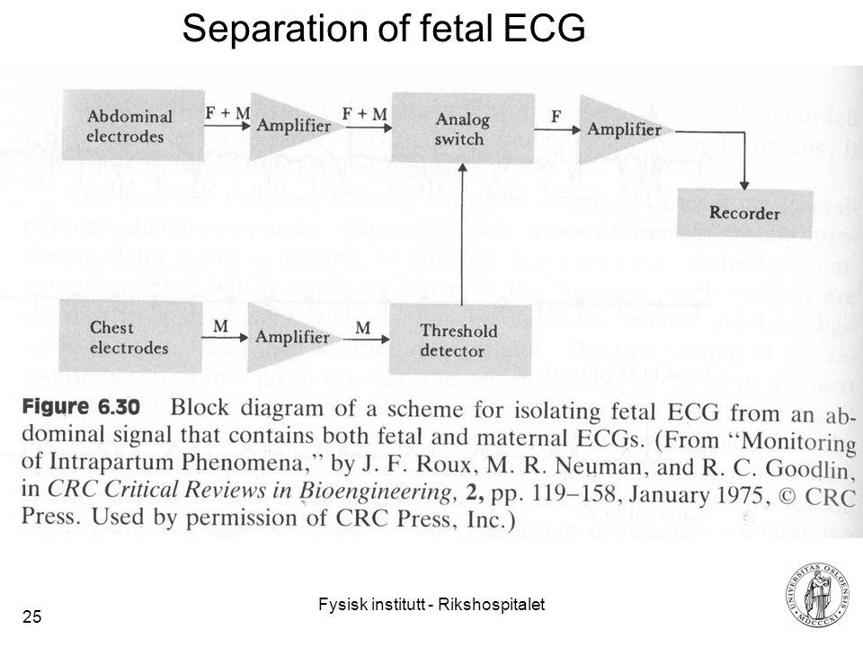 Fysisk institutt - Rikshospitalet 25 Separation of fetal ECG