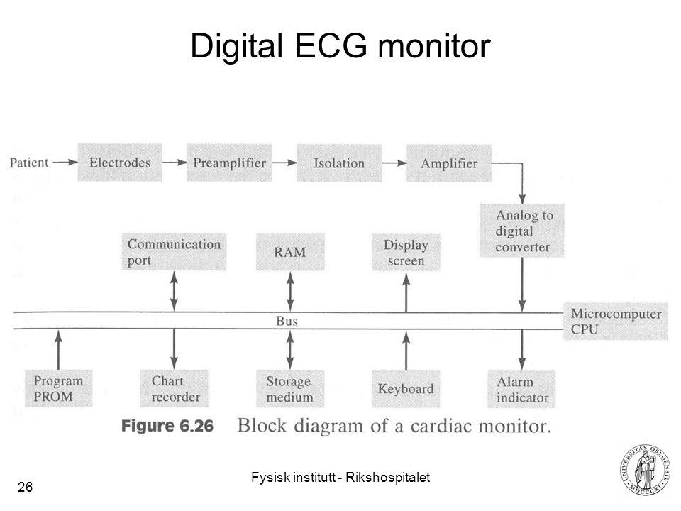Fysisk institutt - Rikshospitalet 26 Digital ECG monitor