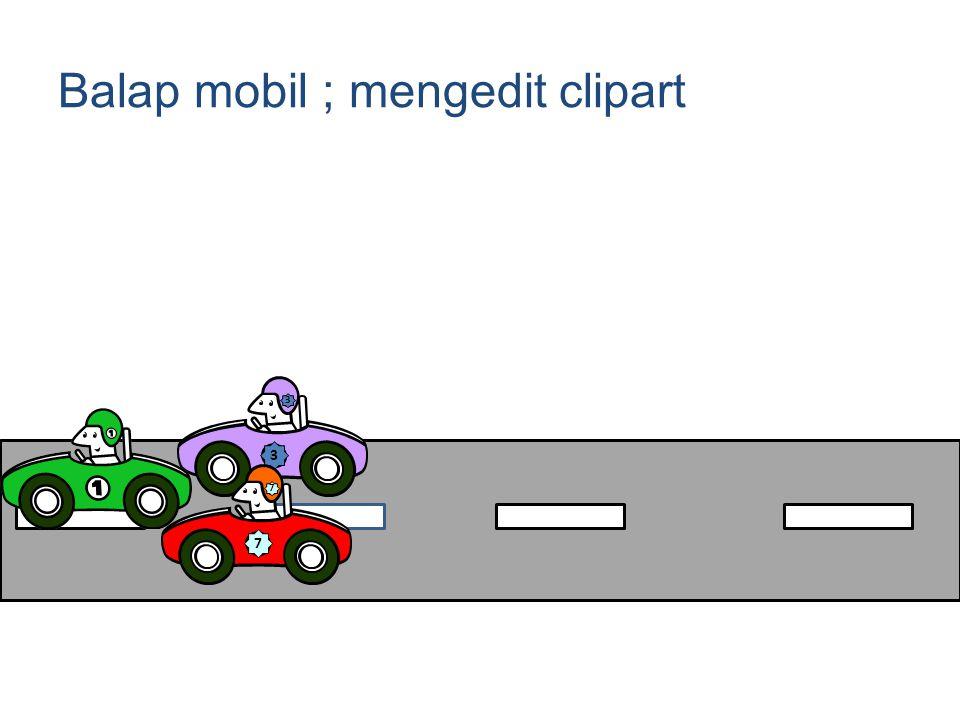 Balap mobil ; mengedit clipart 3 3 7 7