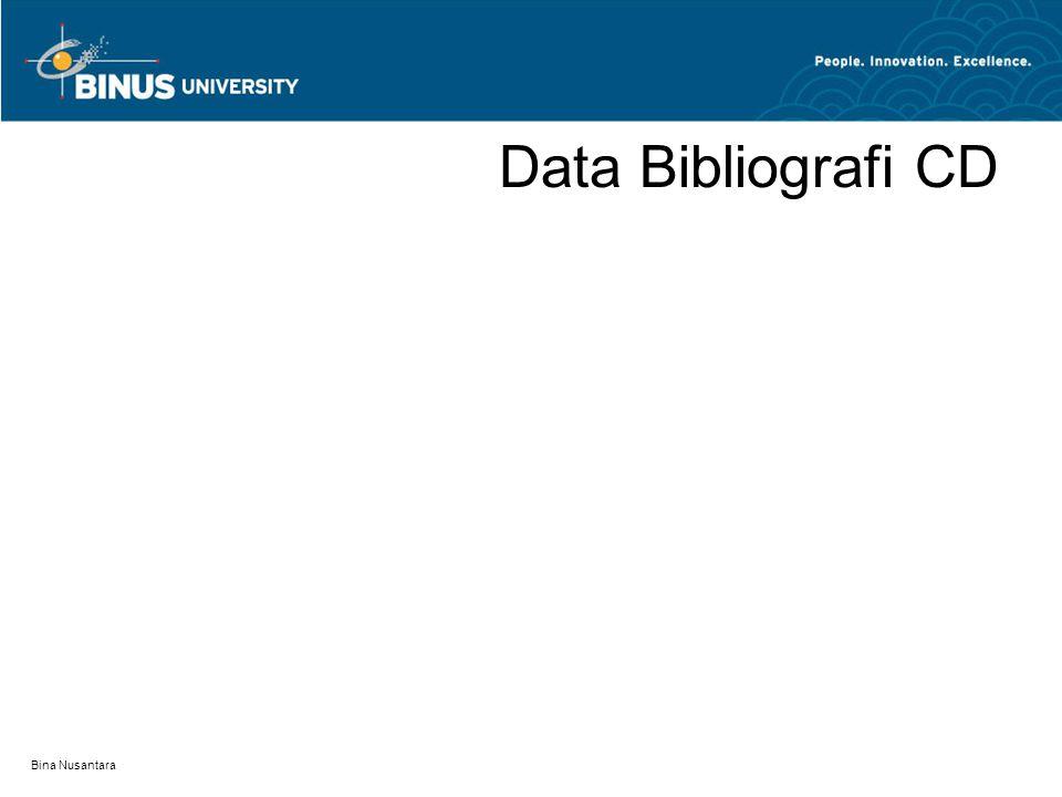 Bina Nusantara Data Bibliografi CD