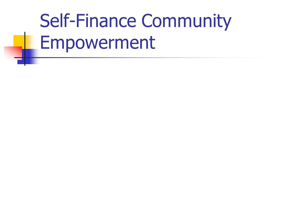 Self-Finance Community Empowerment
