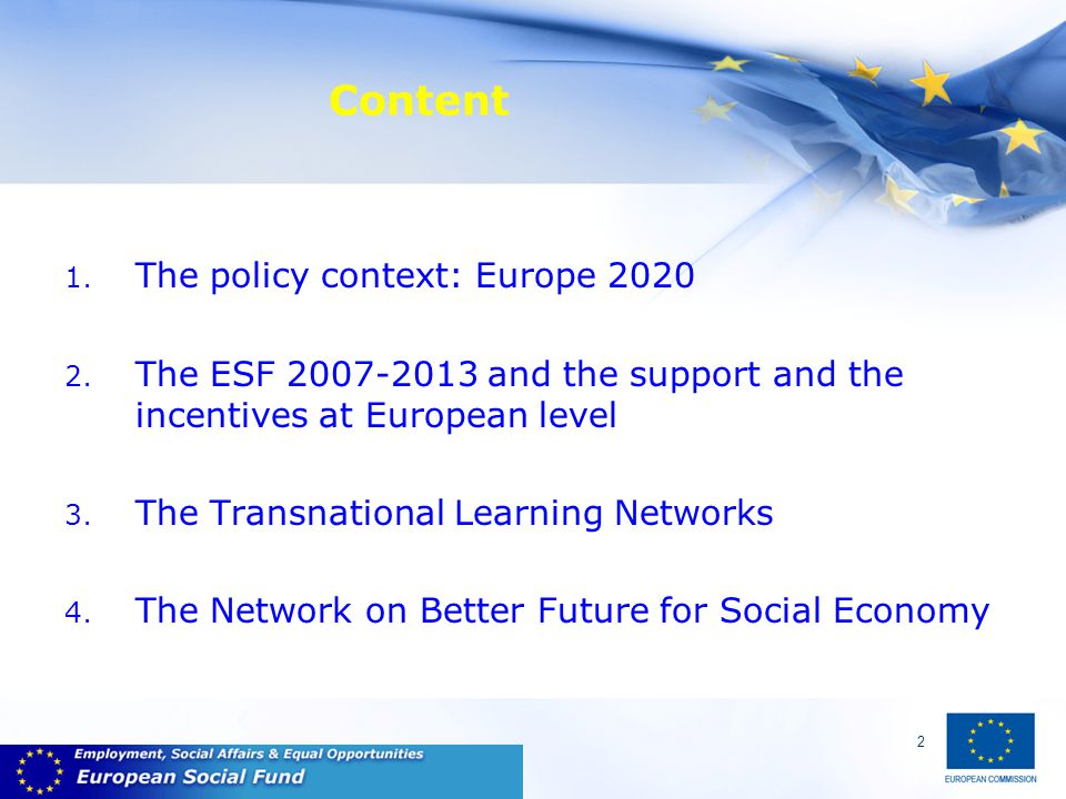 13 Better Future for Social Economy Network strong coordination Experience from 13 LNs so far shows need for a shared vision of what LNs try to achieve and a strong spirit of partnership among LNs members This would require:  to coordinate the activities of the LNs, not only for administrative / financial purposes, but to be able to achieve objectives AS A NETWORK  to ensure the appropriate environment to WORK TOGETHER including more meetings with ALL LNs partners BFSE: new focus on tasks and not strands is welcome.