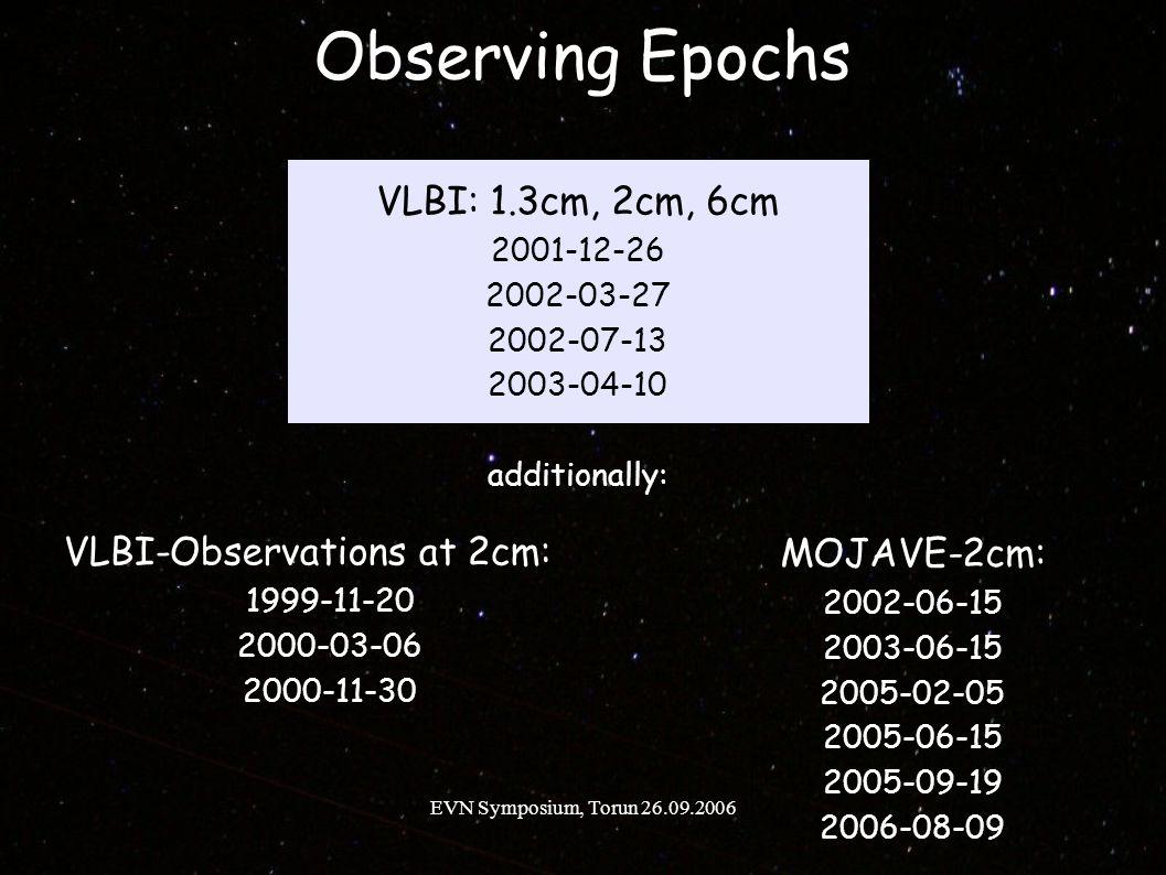 EVN Symposium, Torun 26.09.2006 2cm modelfit maps S.