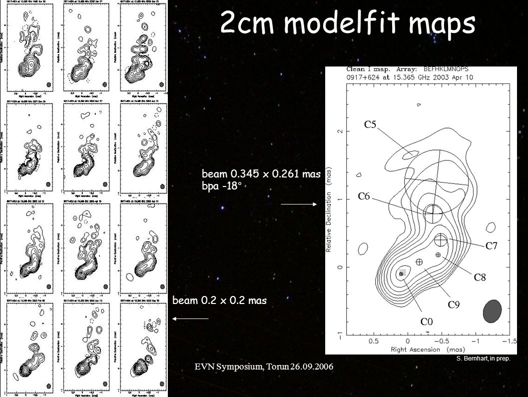 EVN Symposium, Torun 26.09.2006 Core Separation at 2cm S. Bernhart, in prep.