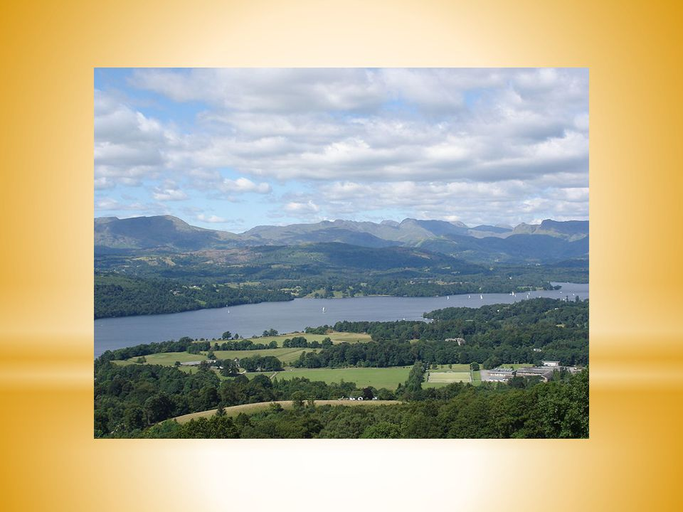 the Lakes or Lakeland north-west of England (No.