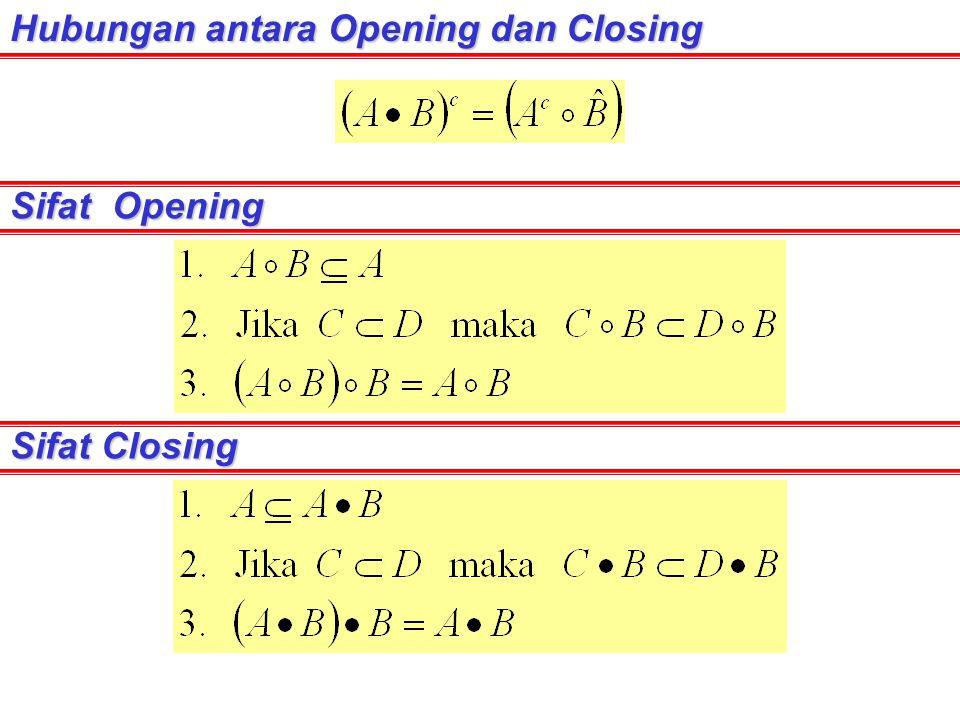 Hubungan antara Opening dan Closing Sifat Opening Sifat Closing