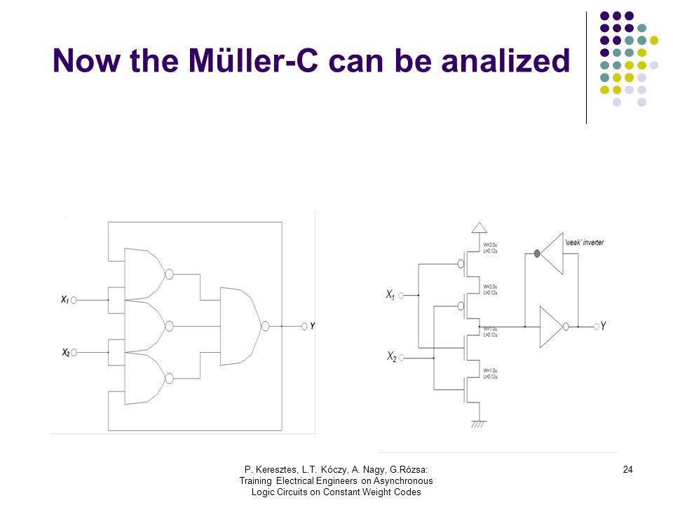 P. Keresztes, L.T. Kóczy, A. Nagy, G.Rózsa: Training Electrical Engineers on Asynchronous Logic Circuits on Constant Weight Codes 24 Now the Müller-C