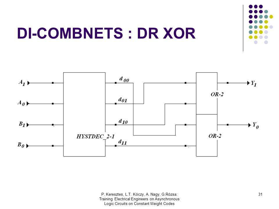 P. Keresztes, L.T. Kóczy, A. Nagy, G.Rózsa: Training Electrical Engineers on Asynchronous Logic Circuits on Constant Weight Codes 31 DI-COMBNETS : DR