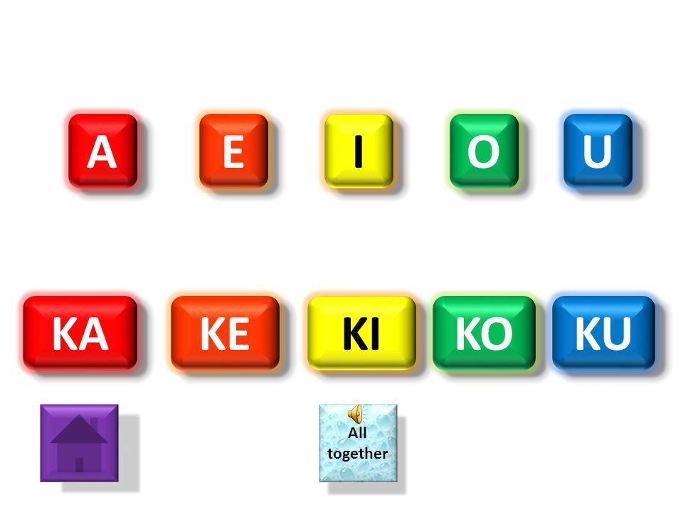 "A A O O E E I I U U JA JE JI JO JU All together All together ""J"" SOUNDS LIKE H"