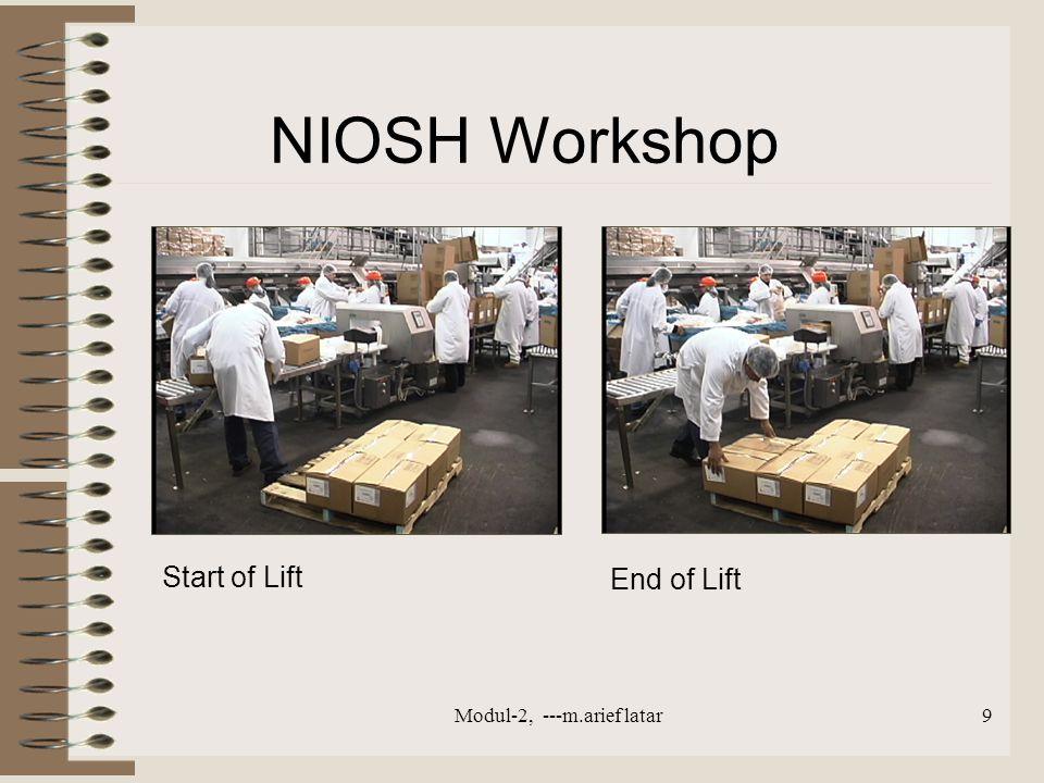 Start of Lift End of Lift NIOSH Workshop Modul-2, ---m.arief latar9