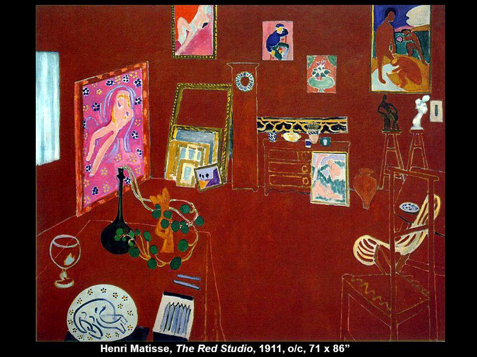 "Henri Matisse, The Red Studio, 1911, o/c, 71 x 86"""