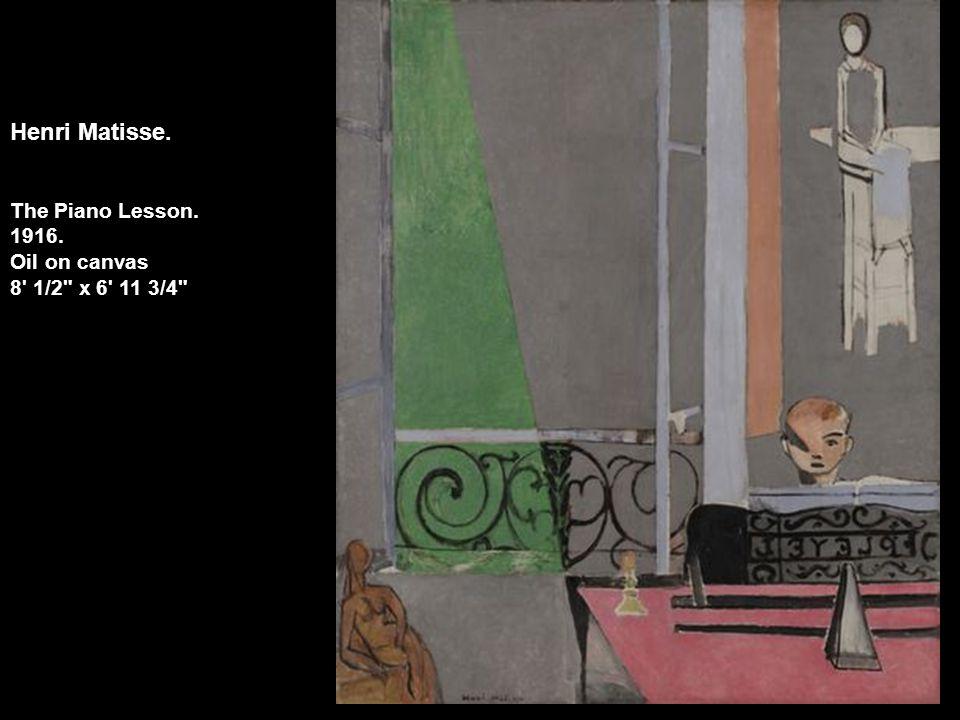 Henri Matisse. The Piano Lesson. 1916. Oil on canvas 8' 1/2