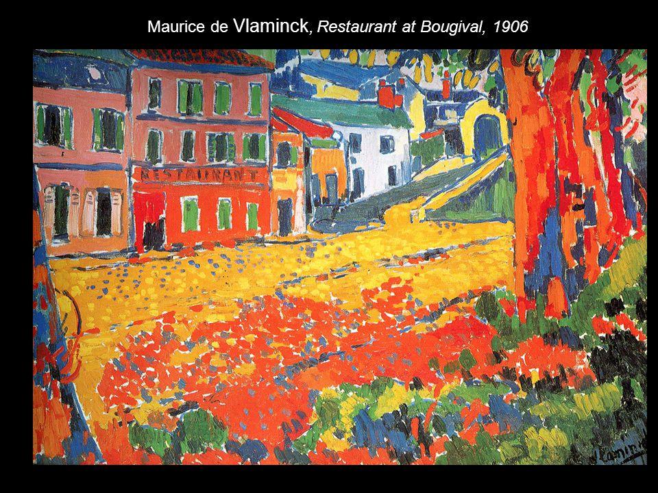 Maurice de Vlaminck, Restaurant at Bougival, 1906