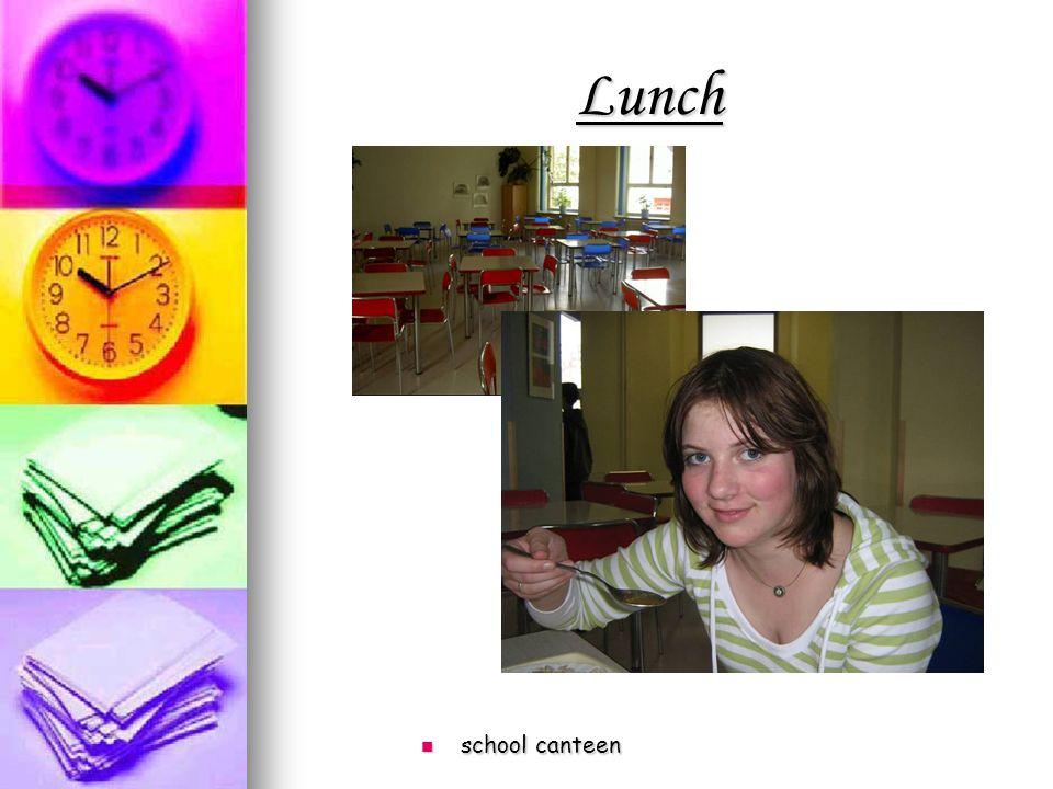 Lunch school canteen school canteen