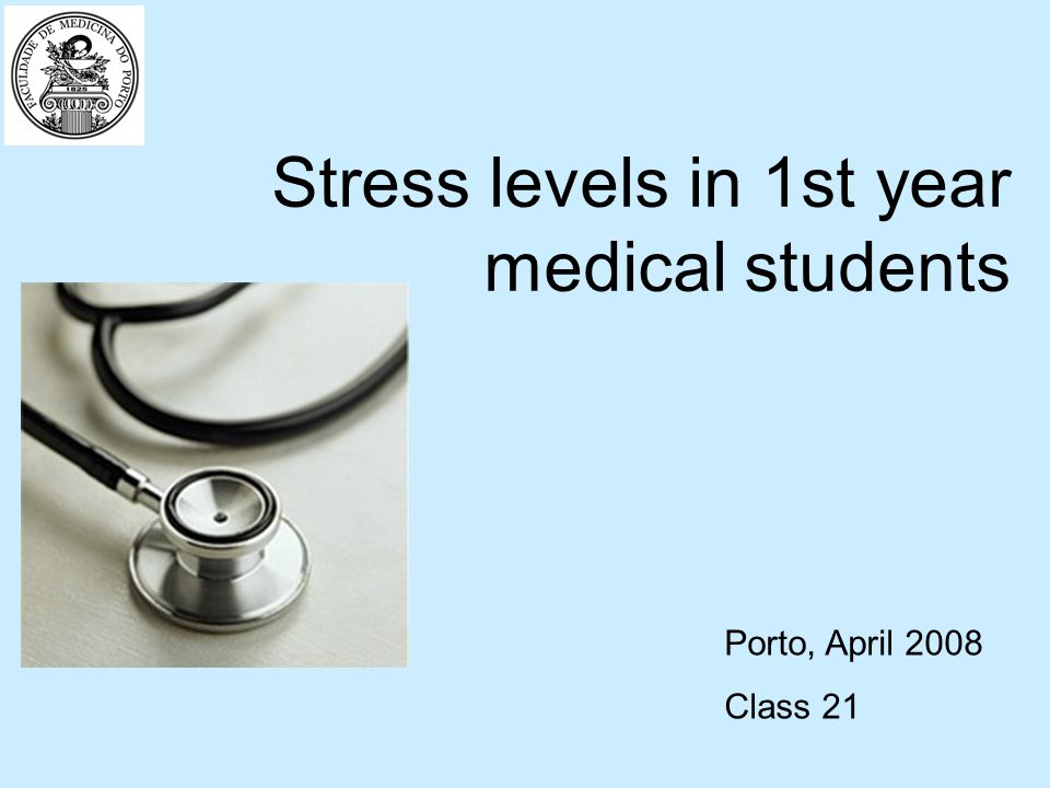 In our project we have determined two main objectives: Assess the stress levels of first year medical students in a Portuguese medical school.