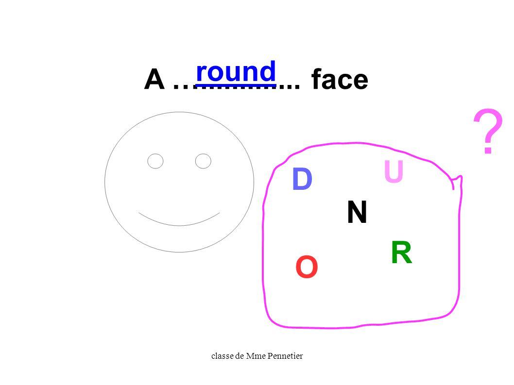 classe de Mme Pennetier A …............. face O N D U R round