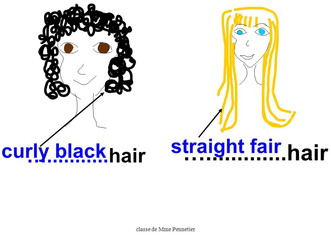 classe de Mme Pennetier fair hair= blond hair
