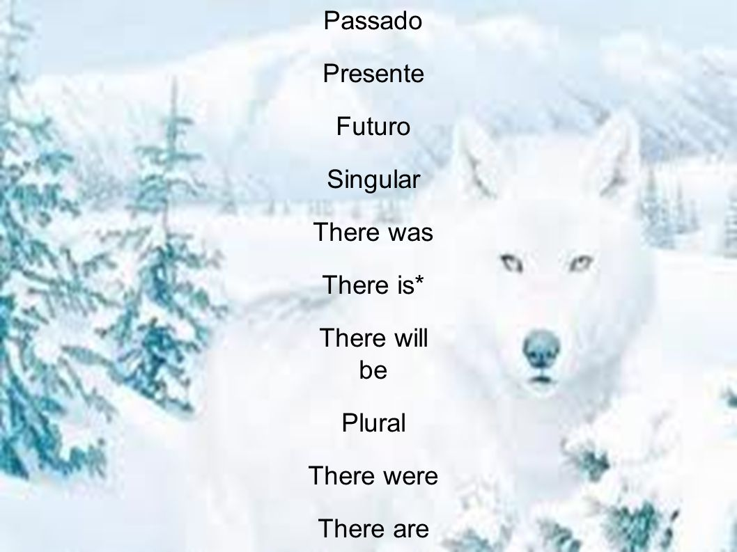 Passado Presente Futuro Singular There was There is* There will be Plural There were There are There will be ** Passado Presente Futuro Singular There was There is* There will be Plural There were There are There will be