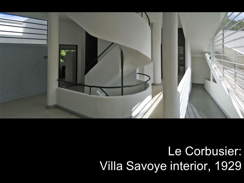 Le Corbusier: Villa Savoye interior, 1929