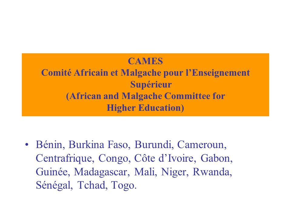 Bénin, Burkina Faso, Burundi, Cameroun, Centrafrique, Congo, Côte d'Ivoire, Gabon, Guinée, Madagascar, Mali, Niger, Rwanda, Sénégal, Tchad, Togo. CAME