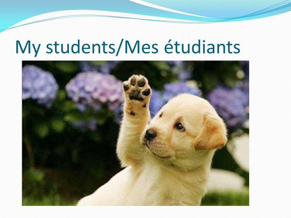 My students/Mes étudiants
