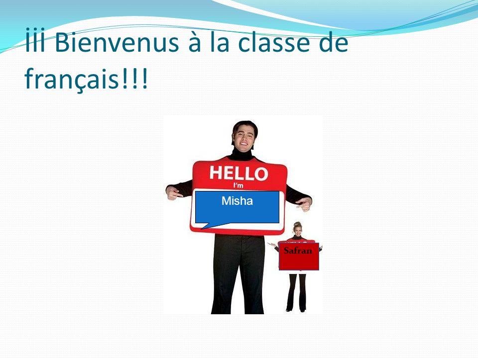 İİİ Bienvenus à la classe de français!!! Safran Misha