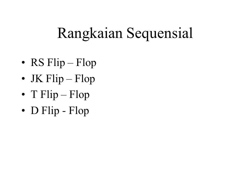 Rangkaian Sequensial RS Flip – Flop JK Flip – Flop T Flip – Flop D Flip - Flop