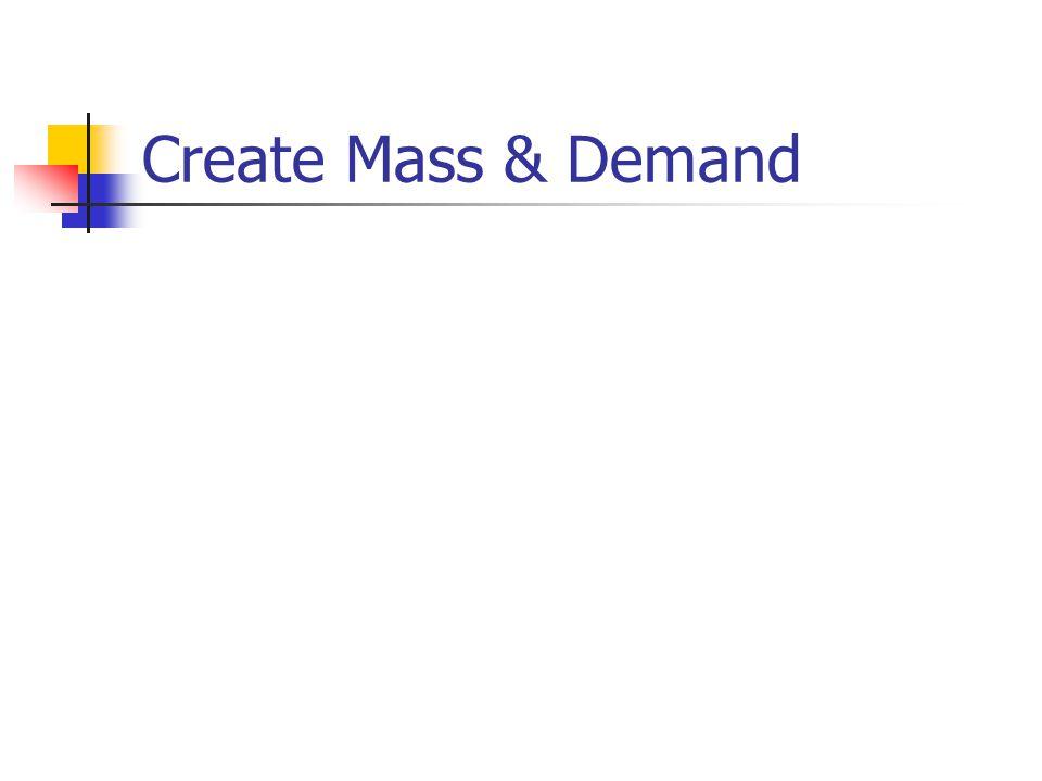 Create Mass & Demand