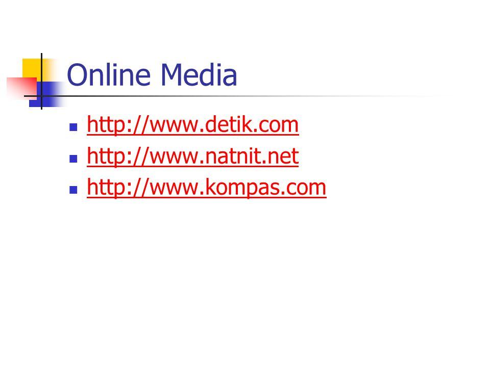 Online Media http://www.detik.com http://www.natnit.net http://www.kompas.com