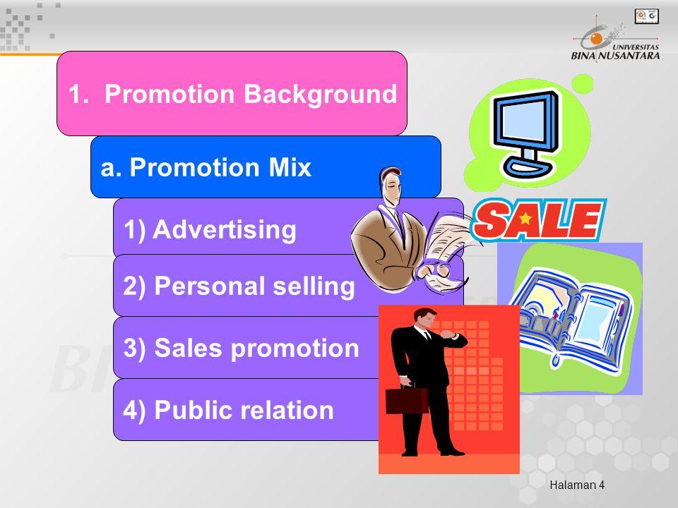Halaman 4 1. Promotion Background a.