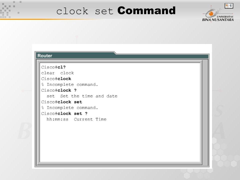 clock set Command